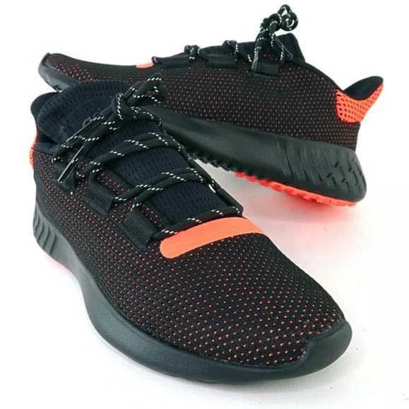 Adidas Originals Tubular Dusk Black Orange Sz 7